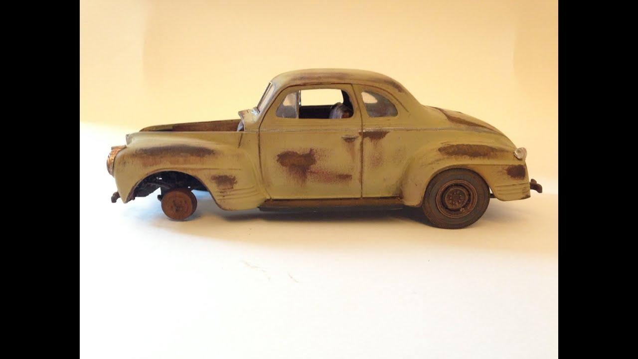 37 Plymouth Sedan1938 Coupe 2 Door Hotrod Streetrod Hot 1941 Pro Street Amt Junkyard 1 25 Youtube