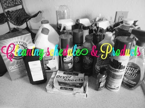 Cleaning on a Budget & My Cleaning Schedule