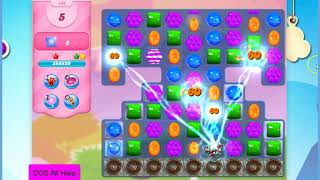 Candy Crush Saga Level 496 15 moves NO BOOSTERS Cookie