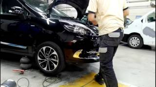 Tuto démontage pare-choc Av Renault Scénic 3 / disassembly front bumper Renault Scénic 3