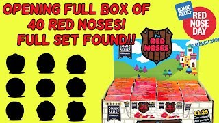 Opening Full Box Of 40 Red Noses 2019 Comic Relief