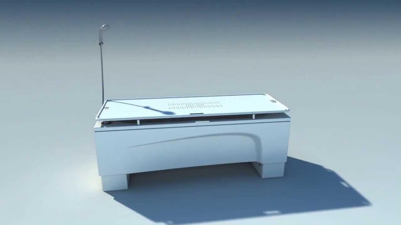 Astor-Bannerman Kiva height adjustable bath with Neatfold Stretcher ...