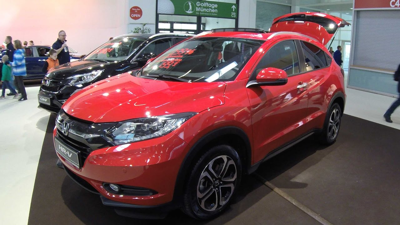 honda hr v executive milano red colour suv model 2017 walkaround and interior. Black Bedroom Furniture Sets. Home Design Ideas