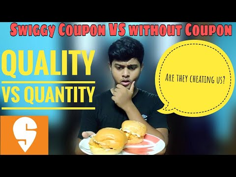 Swiggy Coupon VS Without Coupon||Swiggy Quality And Quantity Test||Swiggy Coupon Code||
