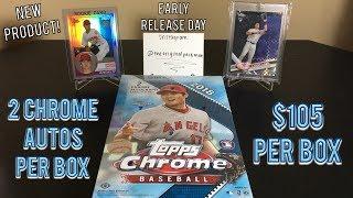 2018 Topps Chrome Baseball Hobby Box Break - 2 Chrome Autographs Per Box!