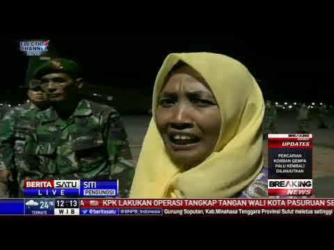 160 Pengungsi Palu Asal Jawa Timur Tiba Di Lanud Juanda Rabu Malam
