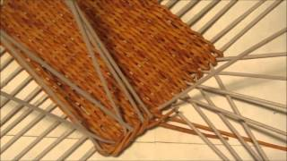 Плетение сундучка из газетных трубочек. Урок 3. Плетение стенок.