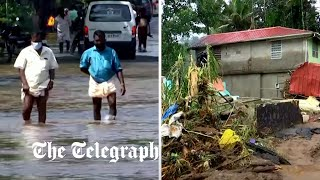 video: Landslides and flooding kill at least 25 in southwest India