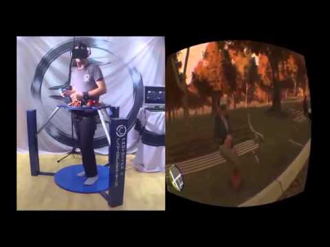 GTA 4 in VR   Cyberith Virtualizer + Oculus Rift + Wii Mote = Mindblowing Experience
