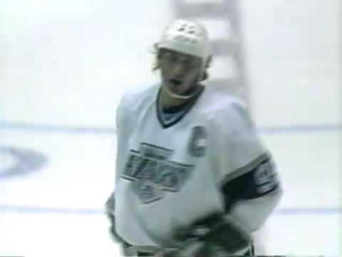 Wayne Gretzky - Nice Goal with L A King vs Edmonton  - Fall 1989