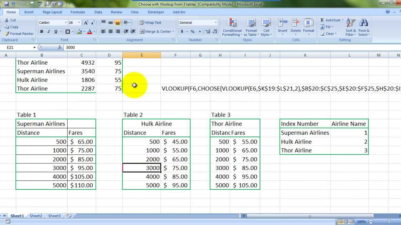 Learn ms excel vlookup data from 3 tables at once english youtube learn ms excel vlookup data from 3 tables at once english publicscrutiny Images