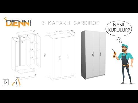 3 KAPILI DOLAP MONTAJI (istor mobilya kars)(three-door cabinet assembly)