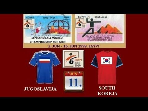 Handball,핸드볼-rukomet Jugoslja-Sauth Korea-SVETSKO PRVENSTVO-WC EGYPAT 1999.
