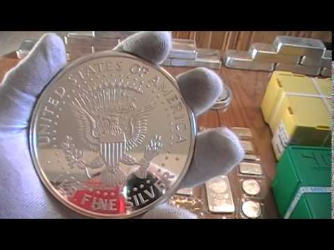 Silver / gold Bullion stack