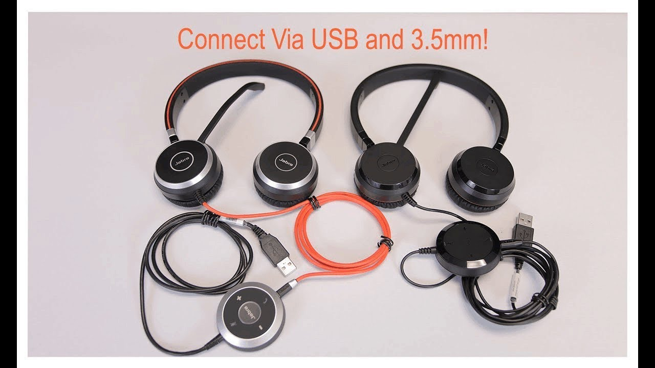 Headsets for PC/Laptop and mobile device use - Jabra Evolve 40 and 30 II