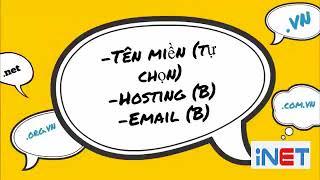 INET - Đăng ký Combo Tên miền + Hosting + Email theo tên miền