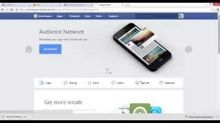Facebook Developer Creando una App