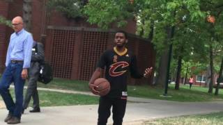 "No one wants to ball with Kyrie look alike ""where the real ballers at"""