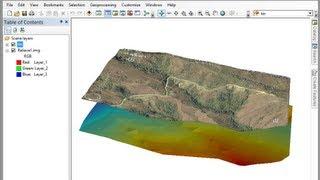 Visualizar el relieve de una imagen satelital en ArcGIS