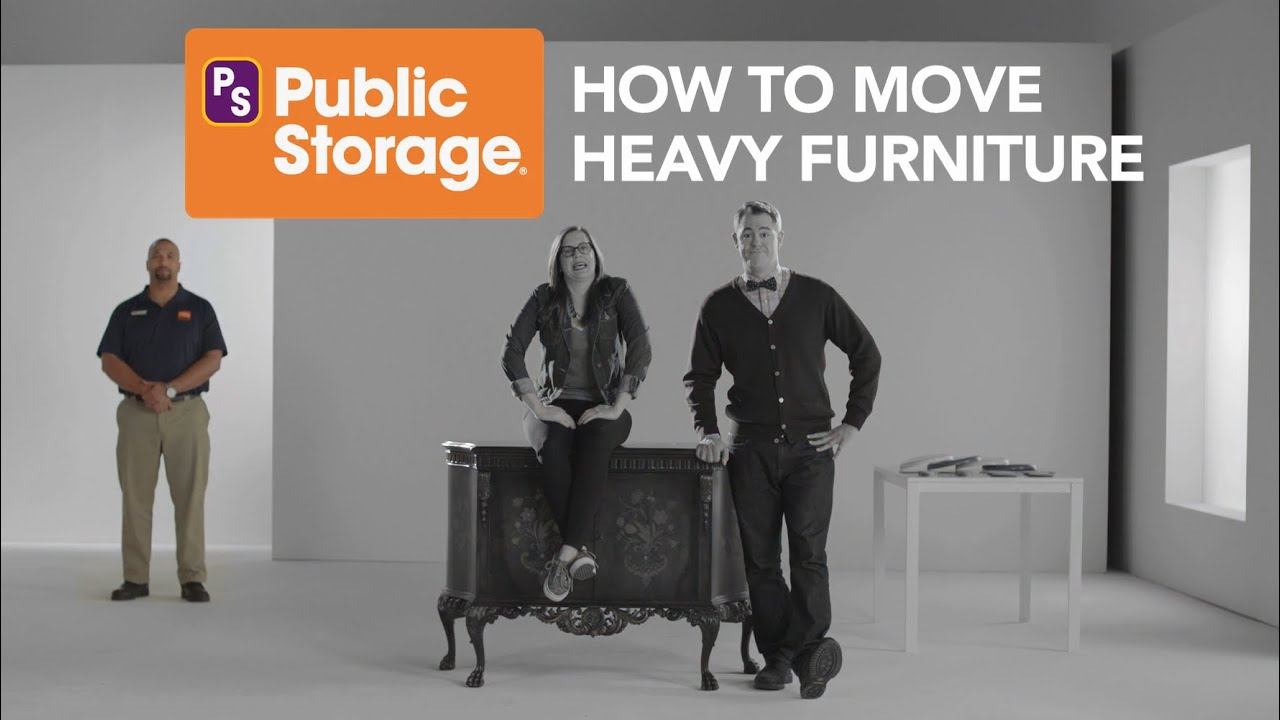 Public Storage: How To Easily Move Heavy Furniture   YouTube