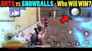 KILLING a BOT with a SNOWBALL on VIKENDI?!? - How to get SNOWBALLS in a PUBG Mobile Game!!