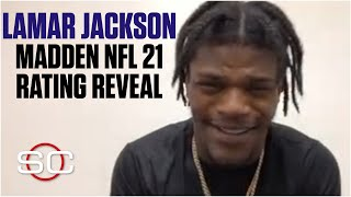 Lamar Jackson in disbelief over his Madden NFL 21 rating | SportsCenter