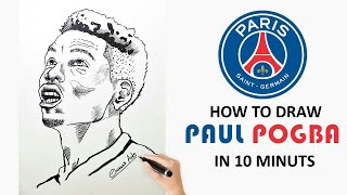 How to Draw Paul Pogba - By Chami