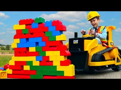 БУЛЬДОЗЕР - машинка для детей Kids ride on bulldozer CARS