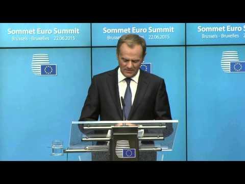 Euro summit: Greece - European Council President Donald Tusk