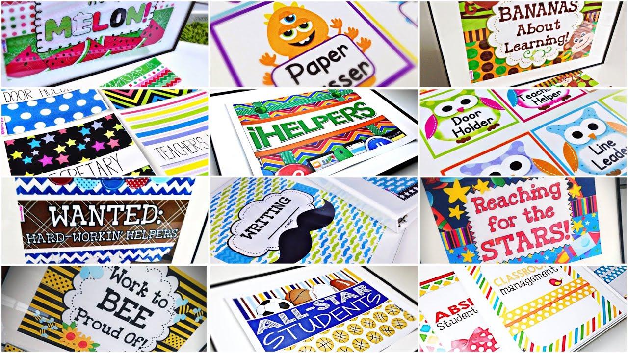 Classroom Themes Decoration Packs Youtube