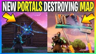 *NEW* FORTNITE Portal At Motel & Lonely Destroy Map *EXPLAINED* (Battle Royale Leaks) Season 5