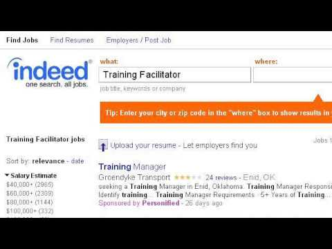 Training Facilitator Job Description