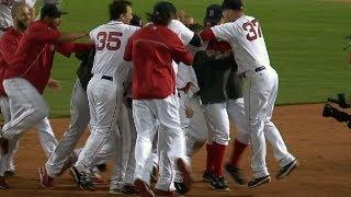 Red Sox walk off in wild six-run ninth