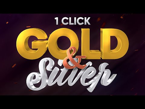 Silver And Gold 3D Text Effect (With A Single Click!) - Photoshop Tutorial