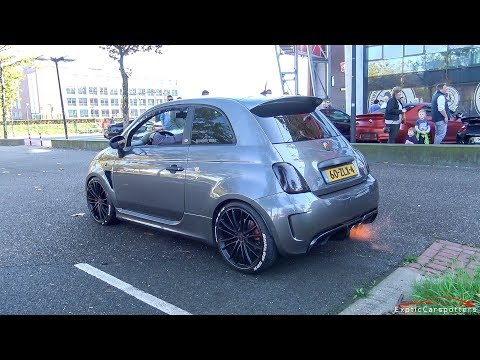INSANE 330HP Stage 4 Abarth 595 w/ Capristo Exhaust - LOUD Bangs & Accelerations !