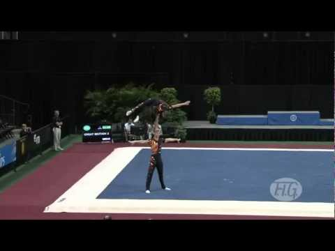 Sports Acro WC 2012 USA  Great Britain, Men's Pair  Upcott, McAssey