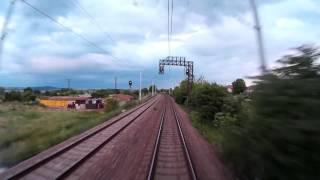 Train cab ride Bulgaria: Burgas - Sofia [via Karlovo]