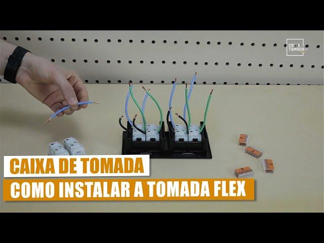 Instalação Elétrica na Caixa de Tomada - Flex 10A e 20A