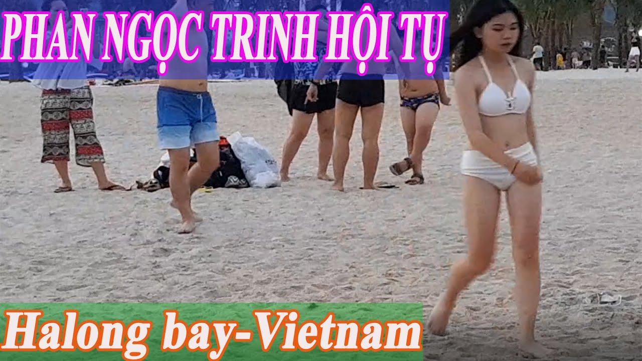 N.G.Ắ.M PHAN NGỌC TRINH tắm biển bãi cháy hạ long quảng ninh/Ha Long Bay Is Vietnam's Paradise