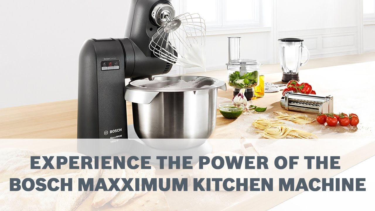 Bosch Maxximum Kitchen Machine Extreme Power Youtube