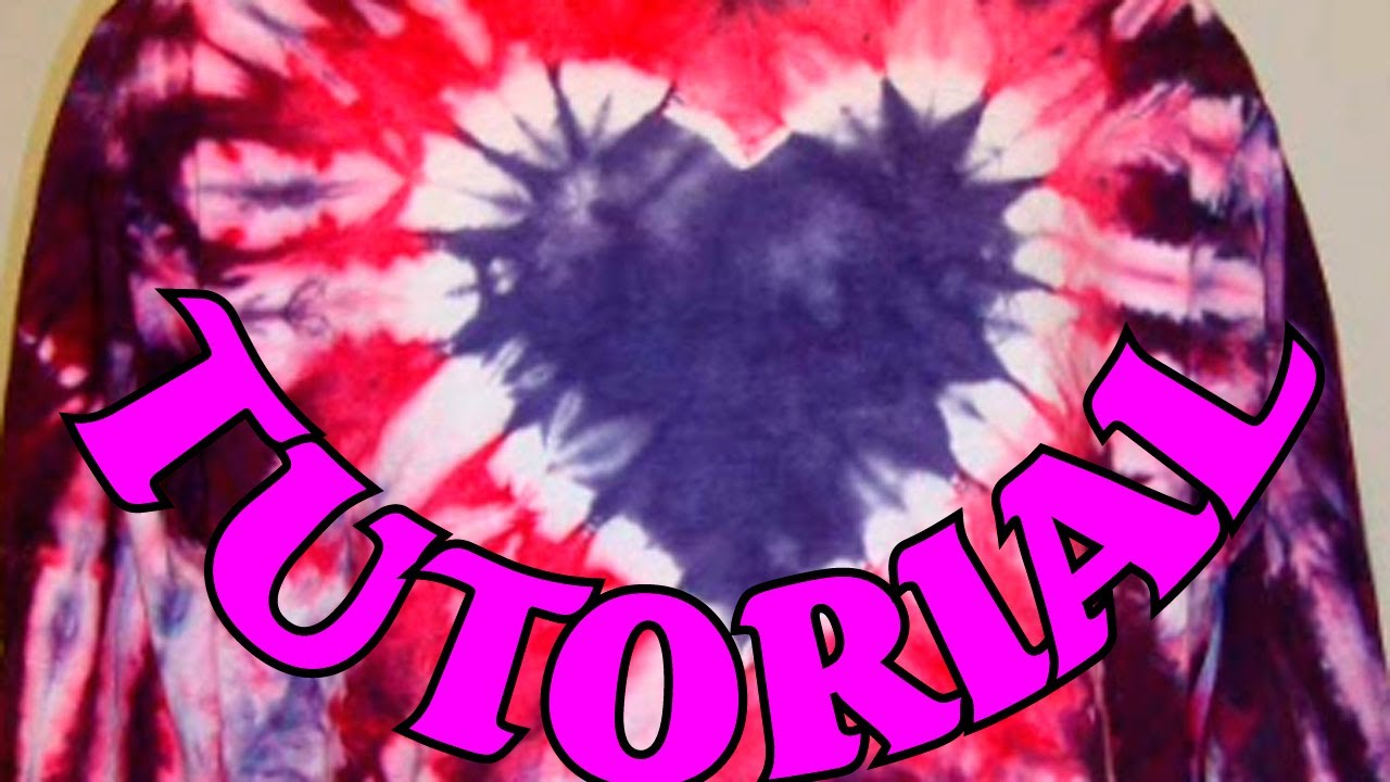 How To Tie Dye A Heart Design Full Tutorial 2 Youtube