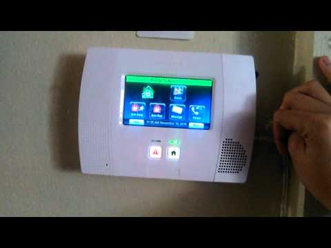 Home alarm test (Panic buttons) Honeywell streaming vf