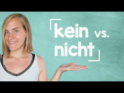 German Lesson - kein vs. nicht - A2