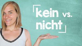 German Lesson (121) - kein vs. nicht - A2