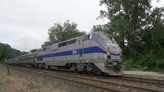 Amtrak Phase IV Heritage P42DC Leads Lake Shore Limited #449 through Front Street X'ing