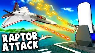 F-22 Raptor vs Vulcan MiniGun! RAPTOR ATTACK (Ravenfield Gameplay)