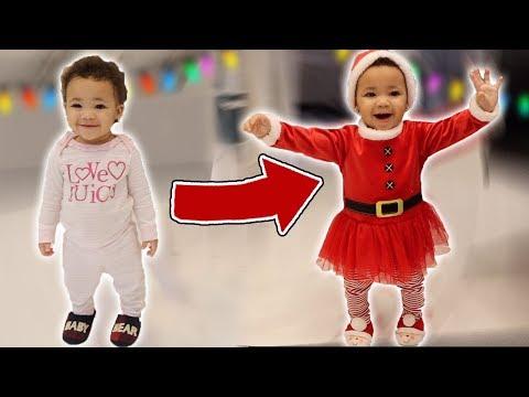 Baby Sister Turns into Santa!!