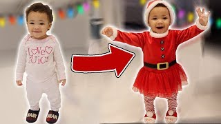 Baby Sister Turns into Santa!!