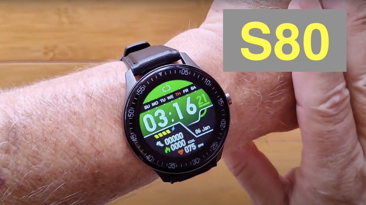 Download SENBONO S80 IP67 Waterproof Bluetooth 5.0 Blood Pressure Premium Sports Smartwatch: Unbox & 1st Look