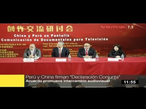 Perú y China promoverán intercambios audiovisuales
